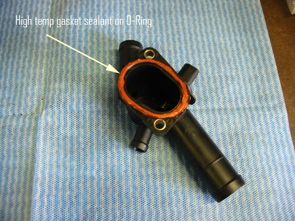 Vwvortexcom Diy Replacing Driver Side Coolant Flange On A Mkiv 2002 Audi A4 Place Your New Into The Block