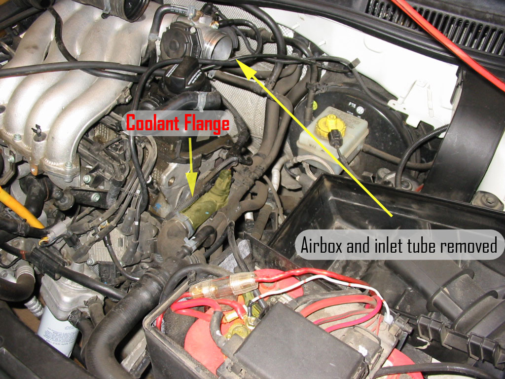 Vwvortexcom Diy Replacing Driver Side Coolant Flange On A Mkiv Vr6 Temp Switch Location Get Free Image About Wiring Diagram Jetta 8v 2o